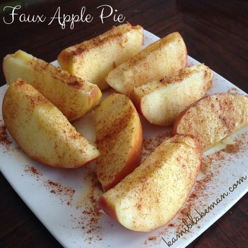 Tastes like homemade apple pie without the calories, fat or sugar!
